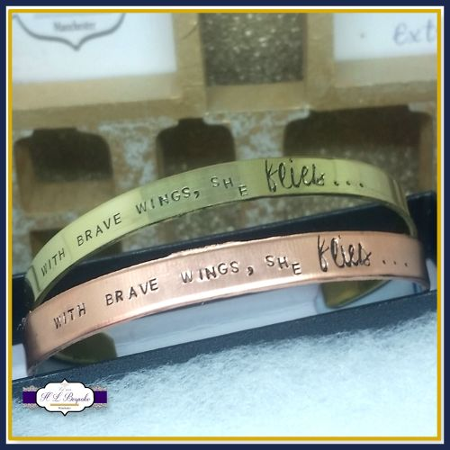 With Brave Wings She Flies Jewellery - Brave Wings Gift - Brave Wings Bangl