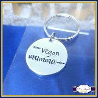 Vegan Mumma Gift - Vegan Mummy Keychain - Simple Vegan Gift - Vegan Gift - Vegan Mum Gift - Vegan Keyring - Love Animals - Veganism Rocks