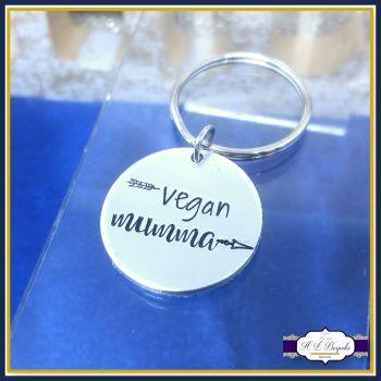 Vegan Mumma Gift - Vegan Mummy Keychain - Simple Vegan Gift - Vegan Gift - Vegan Mum Gift - Vegan Keyring - Love Animals - Veganism Rocks