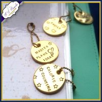 Personalised Planner Charm - Gold Planner Charms - Planner Accessories - Planner Charm - You Choose Wording - Custom Planner Charm - Round