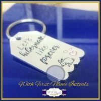 Personalised Valentine's Keyring - Let's Hibernate - Like Forever Keychain - Love You Gift - Valentine's Gift - Anniversary Gift - Hibernate