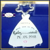 Personalised Will You Be My Bridesmaid Gift - Will You Be My Maid Of Honour - Bridesmaid Keyring - Will You Be Gift - Brideszillamaid