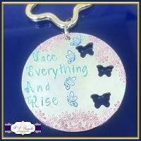 Fear Acroynm Gift - Face Everything And Rise Quote - Fear Keyring - Empowerment Gift - Uplifting And Motivational Gifts - Motivate Me