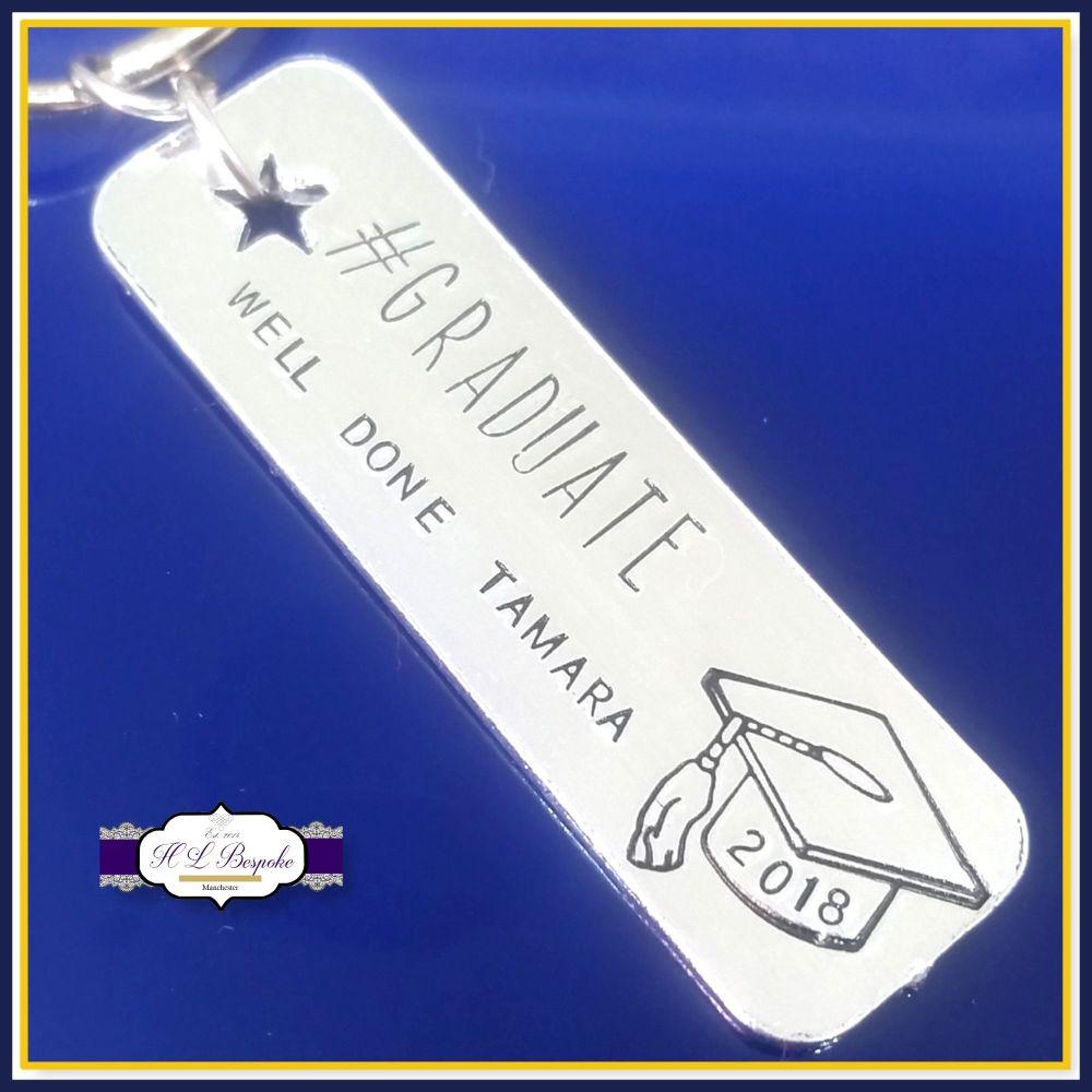 Personalised Graduate Gift - Graduation Keychain - #Graduate Keyring - Simp