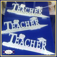 Personalised Unique Teacher Gift - Hanging Teacher Gift - Gifts For Teacher - Number 1 Teacher - End Of Year Teacher Gift - Classroom Gifts