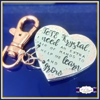 Personalised Will You Be My Godparent Gift - GodParent Heart Booklet Keyring - Book Keyring - Godmother Gift - Christening Asking Parents