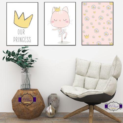 Princess Baby Nursery Decor Print Set Our Wall Prints Room Art New Decoration