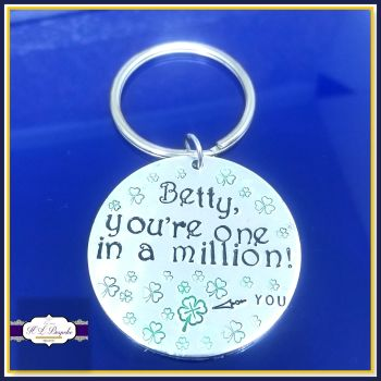 Personalised Thank You Gift  - One In A Million Keyring - One In A Million Gift - With Thanks Gift - Gift To Say Thank You - Pick Me Up Gift