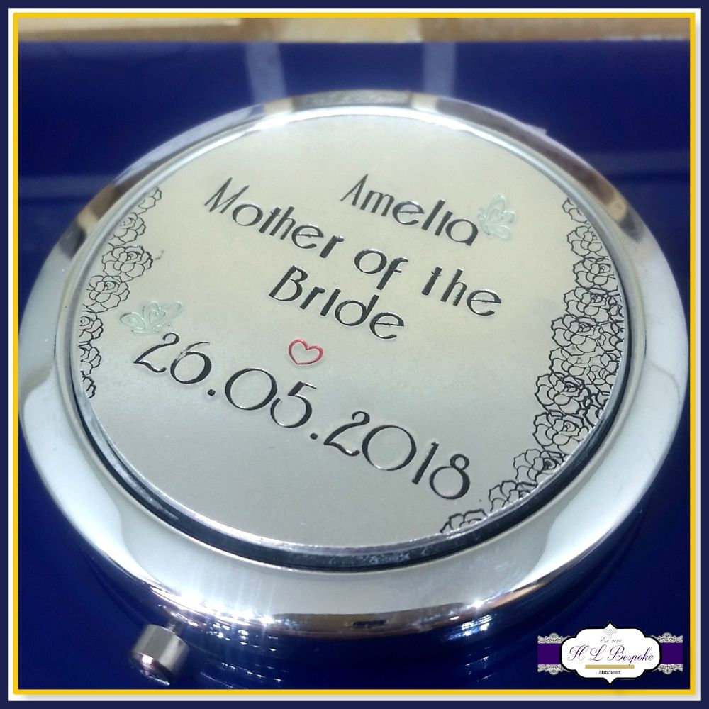 Mother Of The Groom Gift - Mother Of The Bride Gift - Personalised Compact