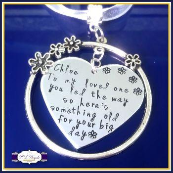 Personalised Flower Girl Gift - Flower Girl Bouquet Charm - Bridesmaid Bouquet Charm - Bridesmaid Gift - Meaningful Wedding Gift