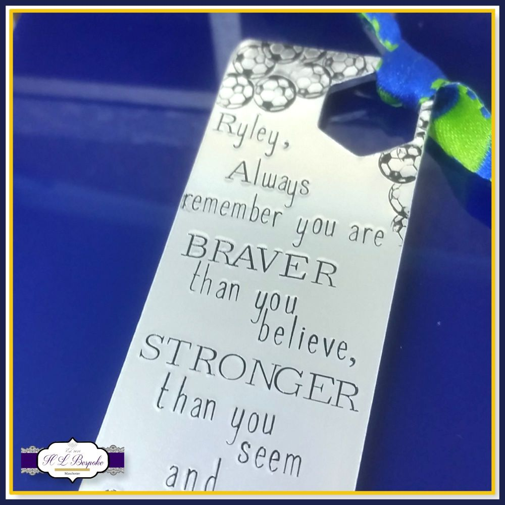 Personalised Bookmark For Boys - Bookmark For Girls - YOU CHOOSE WORDING -