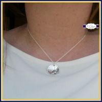Sterling Silver Hummingbird Necklace - Dotty - Hummingbird Pendant - Hummingbird Jewellery - Humming bird Gift - Silver Hummingbird - Flower