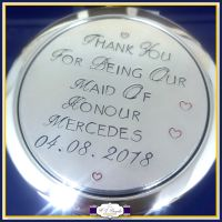 Personalised Bridesmaid Compact Mirror - Bridesmaid Compact Mirror - Maid Of Honour Gift - Mother Of Bride Gift - Wedding Gifts For Girls