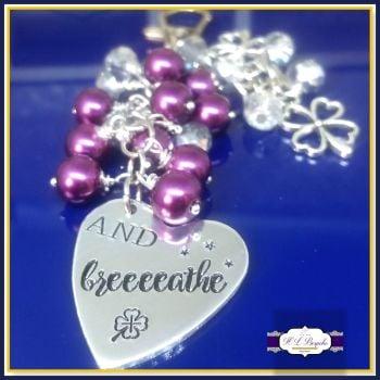 Personalised Bag Charm - You're Own Wording & Design - Handbag Charm - And Breath - Beaded Bag Charm - Crystal Bagcharm - Girly Gift