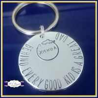Personalised Daddy Fishing Keyring - Fishing Lover Gift - Behind Every Good Kid is A Great Dad - Father's Day Keyring - Fisherman - Fisher