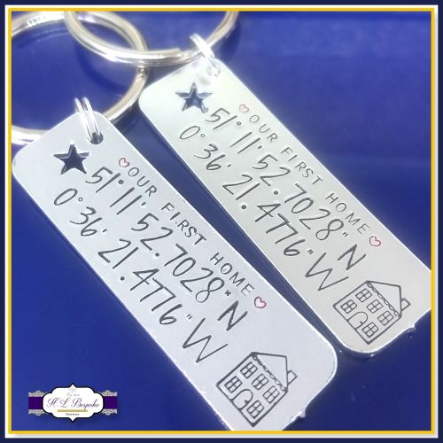 personalised first home keyrings our first home gift first home