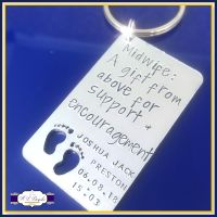 Personalised Midwife Gift - Midwife Keyring - Gift For Midwife - Thank You Midwife - Midwife Gift From Above - Midwife Keychain - Doula Gift