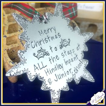 Whole School Christmas Gift - Whole School Christmas Decoration - Gift For All The Staff - Hospital  - Christmas Gift For Group - Snowflake