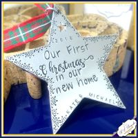 Personalised First Home Christmas Decoration - First Home Christmas Ornament - First Christmas In Our New Home - Star Christmas Decoration