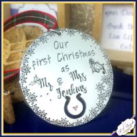 First Christmas As Mr & Mrs Ornament - Our 1st Christmas As Mr And Mrs Decoration - Mr Mr - Mrs Mrs - First Christmas Married - Personalised