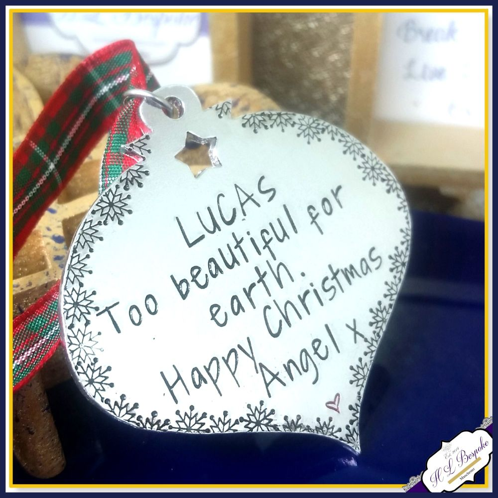 Memorial Christmas Decoration - In Memory Of Christmas Ornament - Too Beau