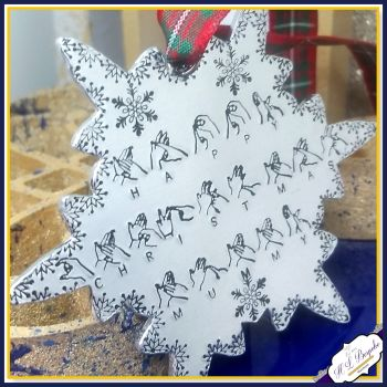 Personalised BSL Christmas Gift - Sign Language Christmas Decoration - Unique  Christmas Ornament - British Sign Language - Snowflake