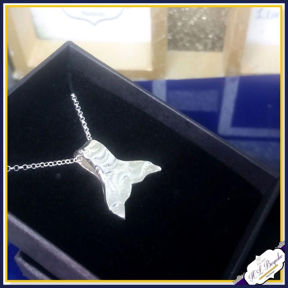 Sterling Silver Mermaid Tail Pendant - Mermaid Necklace - Mermaid Tail Gift