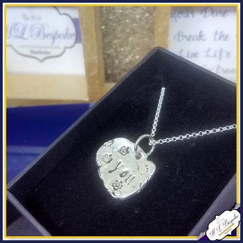 Sterling Silver Bee You Pendant - Bee Necklace - Bee Pendant - Bee Gift -