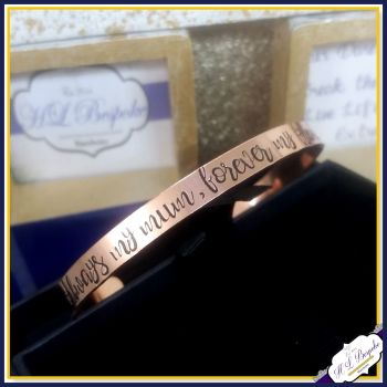 Always My Mum Forever My Friend Cuff - Always My Sister Forever My Friend - Mum Jewellery - Sister Jewellery - Copper Cuff - Brass Cuff