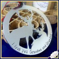 Grandma & Grandad Grandparent Christmas Decoration - Grandma Christmas Gift - Grandad Christmas - Christmas Decoration Gift For Nanny Nan