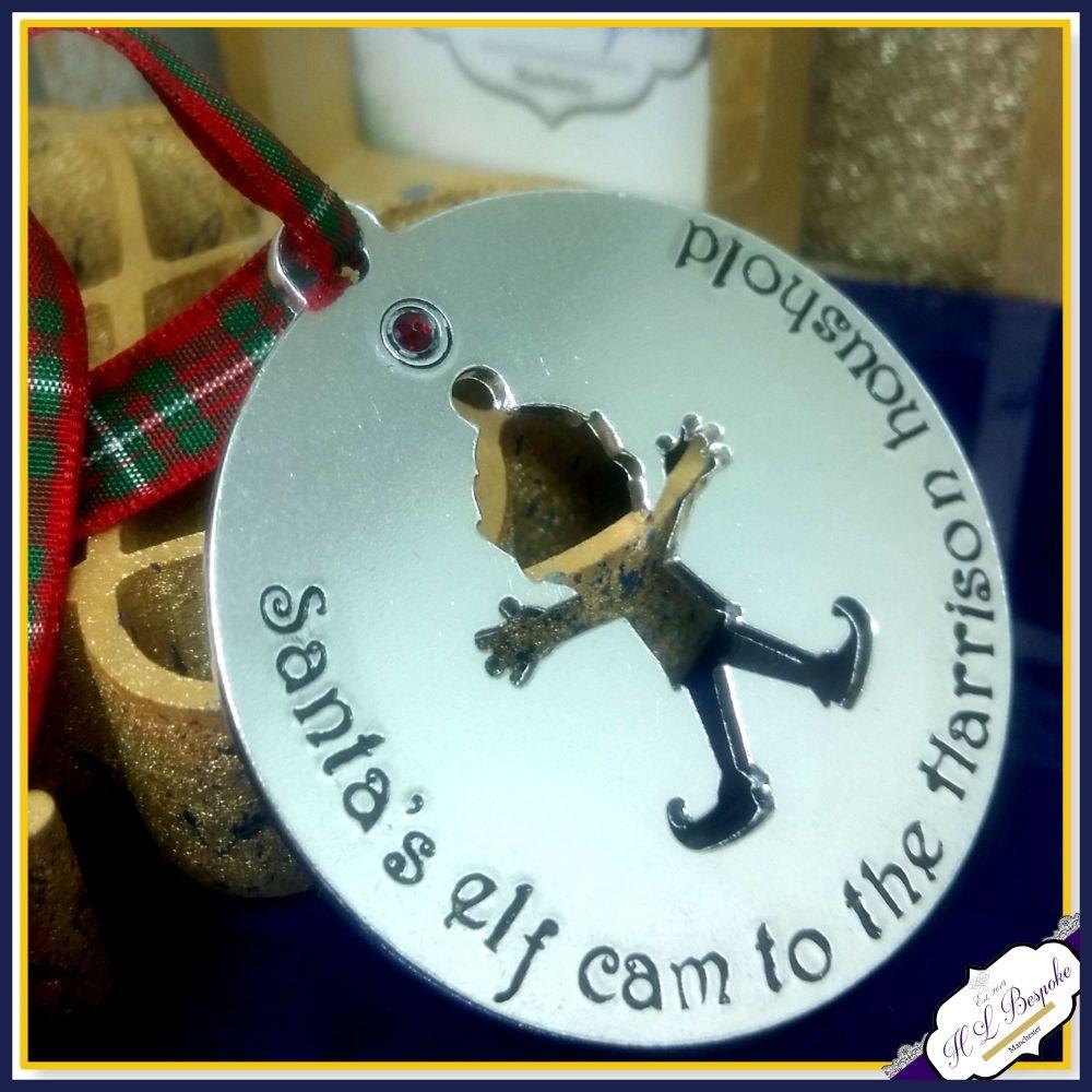 Personalised Santa Cam Decoration - Elf Cam Tree Ornament - Santa's Camera