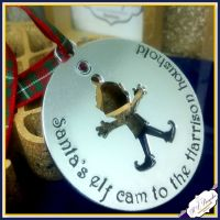 Personalised Santa Cam Decoration - Elf Cam Tree Ornament - Santa's Camera - Elf Camera Decoration - Family Decoration - Christmas Eve Box