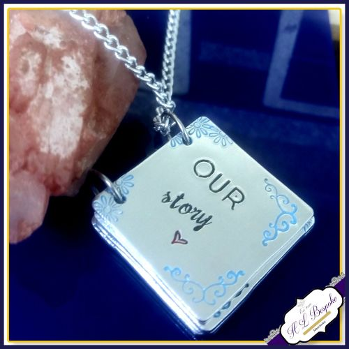 My Story Pendant - Story Book Necklace - Personalised Book Necklace