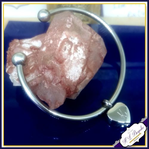 Cremation Urn Bangle - Heart Cremation Bracelet - In Memory Of Jewellery -