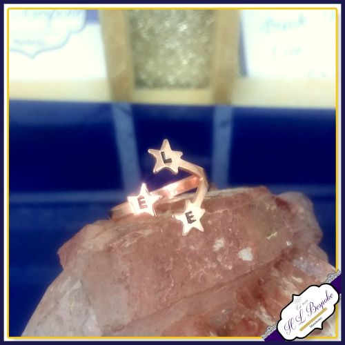 Personalised Star Midi Ring - One Size - Copper Star Ring - One Size Midi R