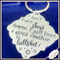 Bullshit Keyring - Profanity Keyring - Sweary Keyring - Quick Reaction To Bullshit Gift - Adult Humour Gift - Pissed Off Gift - Insult Gift