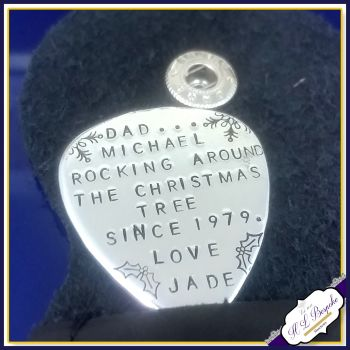 Personalised Christmas Guitar Pick - Dad Gift - Dad Guitar Pick - Rocking Uncle Gift - Father's Day Gift - Grandad Gift - Stepfather Gift - Plectrum