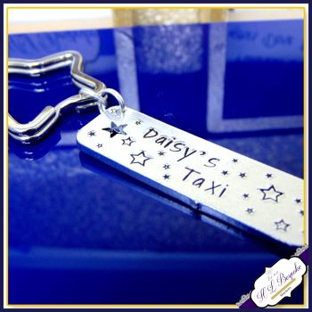 New Driver Keyring - Taxi Keyring - Just Passed Keyring - Taxi Gift - Simple New Driver Gift - Name Taxi Keyring - First Car Keyring - L