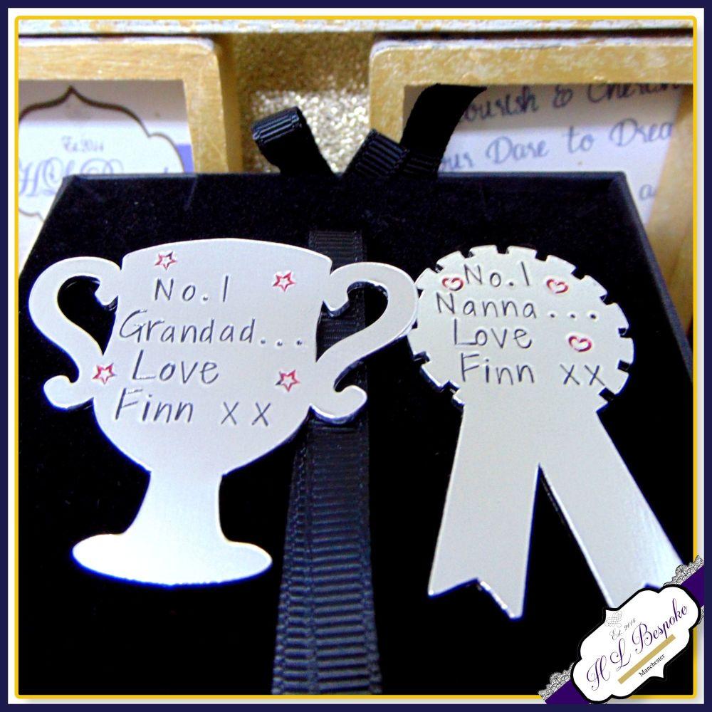 Grandma and Grandad Gift - Grandma Magnet - Grandad Magnet - Personalised F