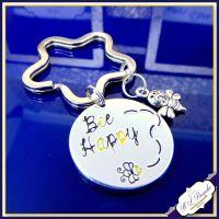 Bee Happy Keyring - Bee Gift - Be Happy Gift - Bee Happy Keychain - Be Happy Keychain - Bumble Bee Keyring - Bumble Bee Gift