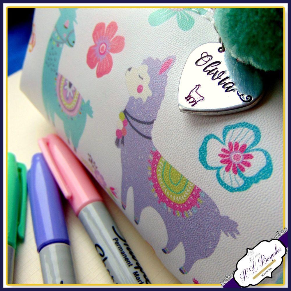 Personalised Llama Pencil Case - Llama Gift - Llama Stationery - Llama Make