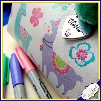 Personalised Llama Pencil Case - Llama Gift - Llama Stationery - Llama Makeup Case - Gifts For Girls - Stationery Addict Gift - Llama Love