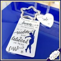 Personalised Dance Teacher Keyring - Behind Every Dancer Gift - Dance Teacher Quote Gift -  Thank You Dance Teacher Gift - Dancer - Dancing