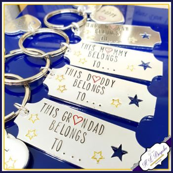 Personalised Grandad Keyring - Belongs To Keyring - Fathers Day Gift - Grandad Keychain - Nana Keychain - Mummy Keyring - New Grandad Gift