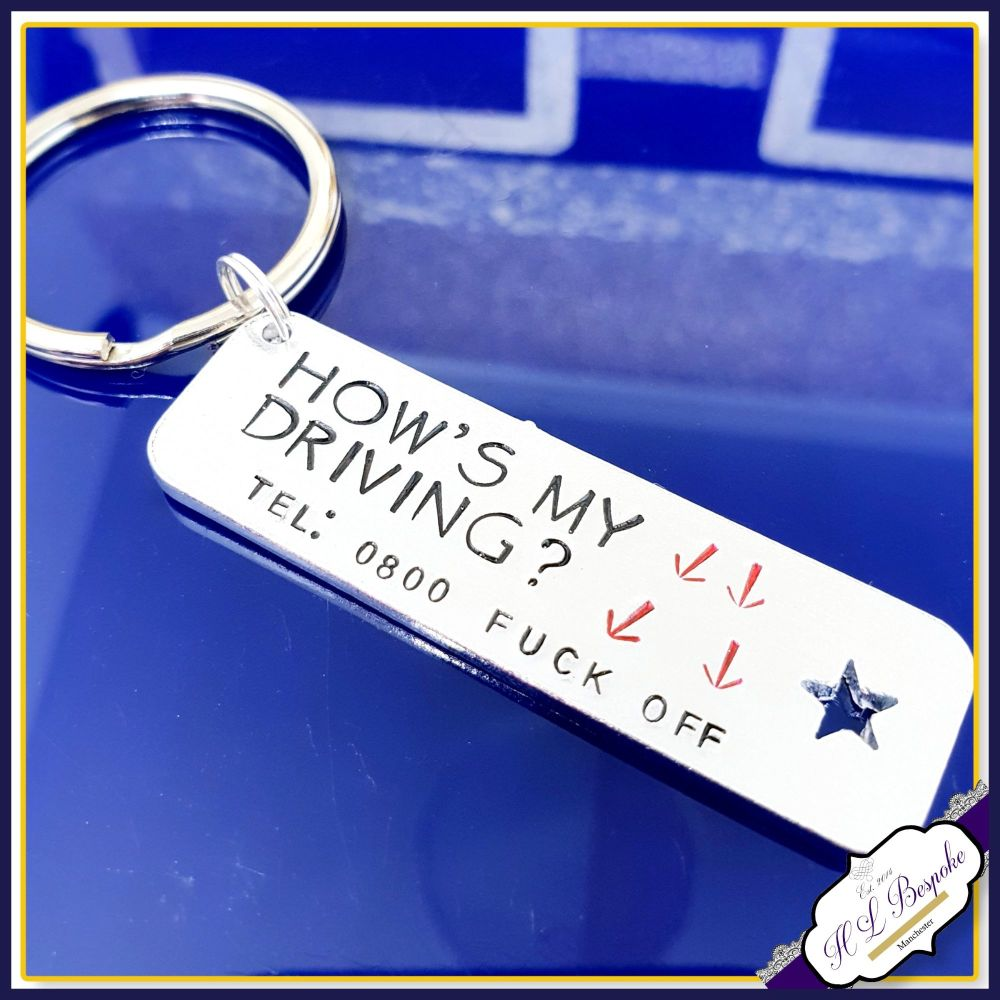New Driver Keyring - Angry Driver Gift - Road Rage Gift - Just Passed Keyri