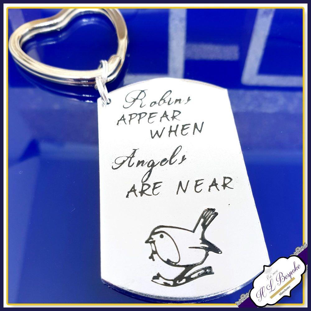 Robins Appear Keyring - Guardian Angel Gift - Robin Keyring - Robin Angel K