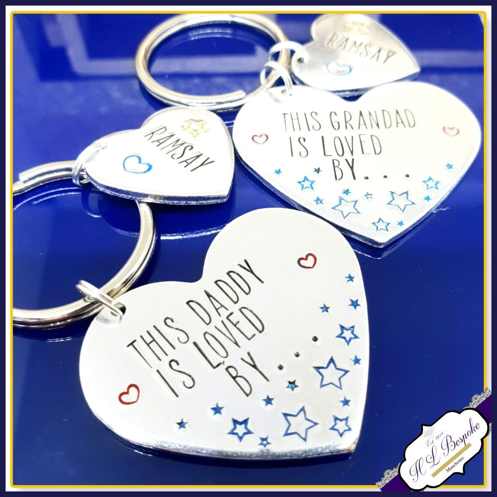 Personalised This Grandad Is Loved By Keyring - Daddy - Uncle - Brother - F