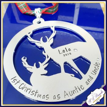 Auntie & Uncle Christmas Decoration - First Chrismtas As Auntie And Uncle - Auntie 1st Christmas Gift - Uncle First Christmas Gift - Stag