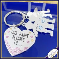 Nanny Keyring - Mothers Day Gift - Mummy Belongs To - Nanna Keychain - Grandma Gift - Family Tree Gift - Grandad Gift - New Grandma Gift