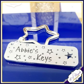 Personalised Name Keyring - First Key Gift - New Driver Keyring - New Driver Gift - Name Keyfob - Just Passed Keyring - First Car Keyring